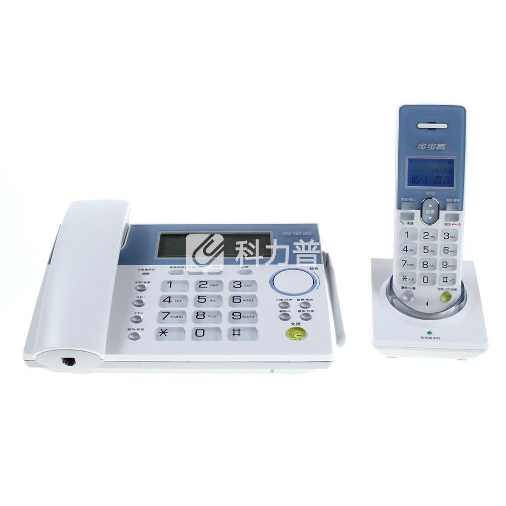 步步高 bbk 无绳电话机 w101 (白色)