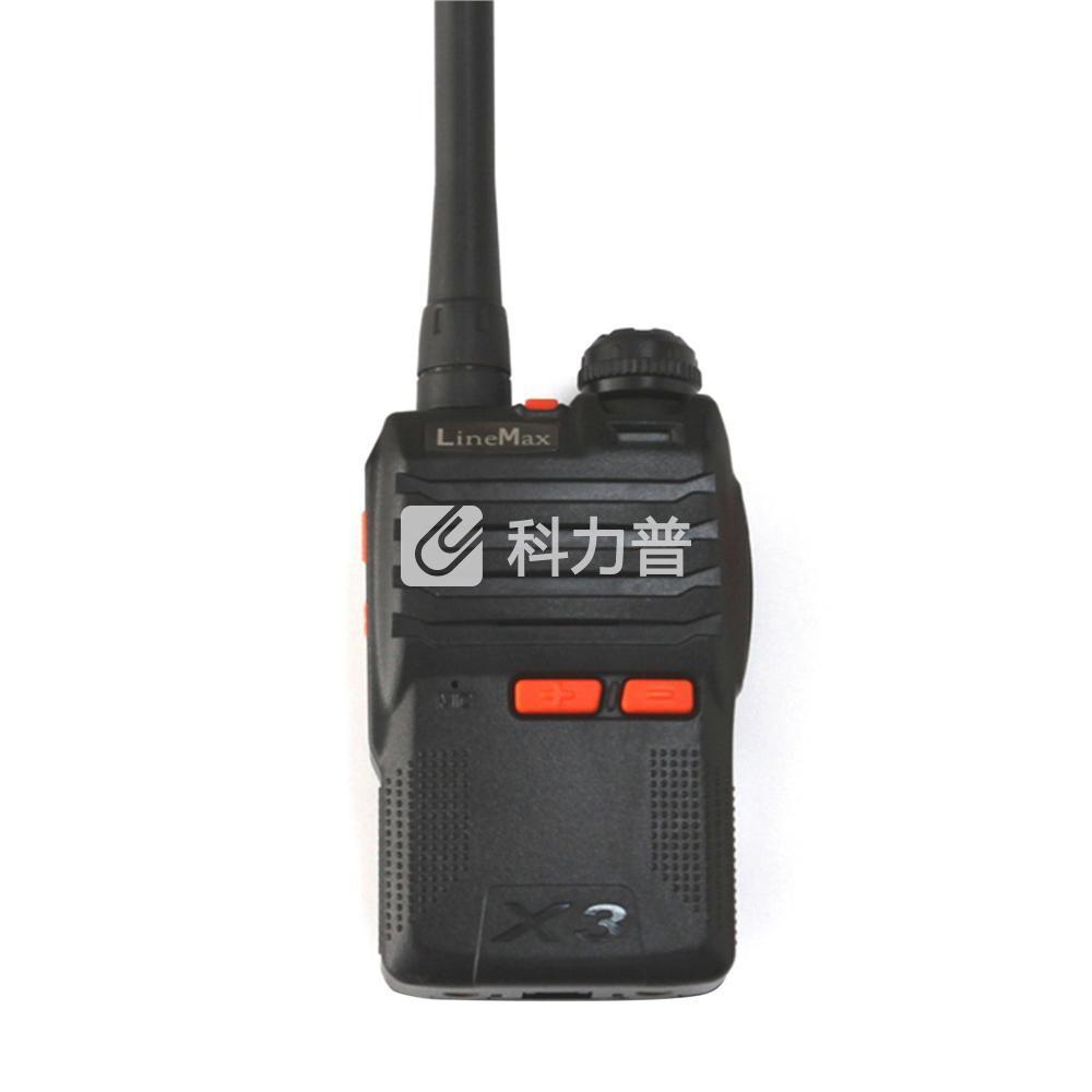 雷曼克斯 LineMax 专业对讲机 X3 黑色 (锂电池 充电器 背夹 天线 纸盒装)