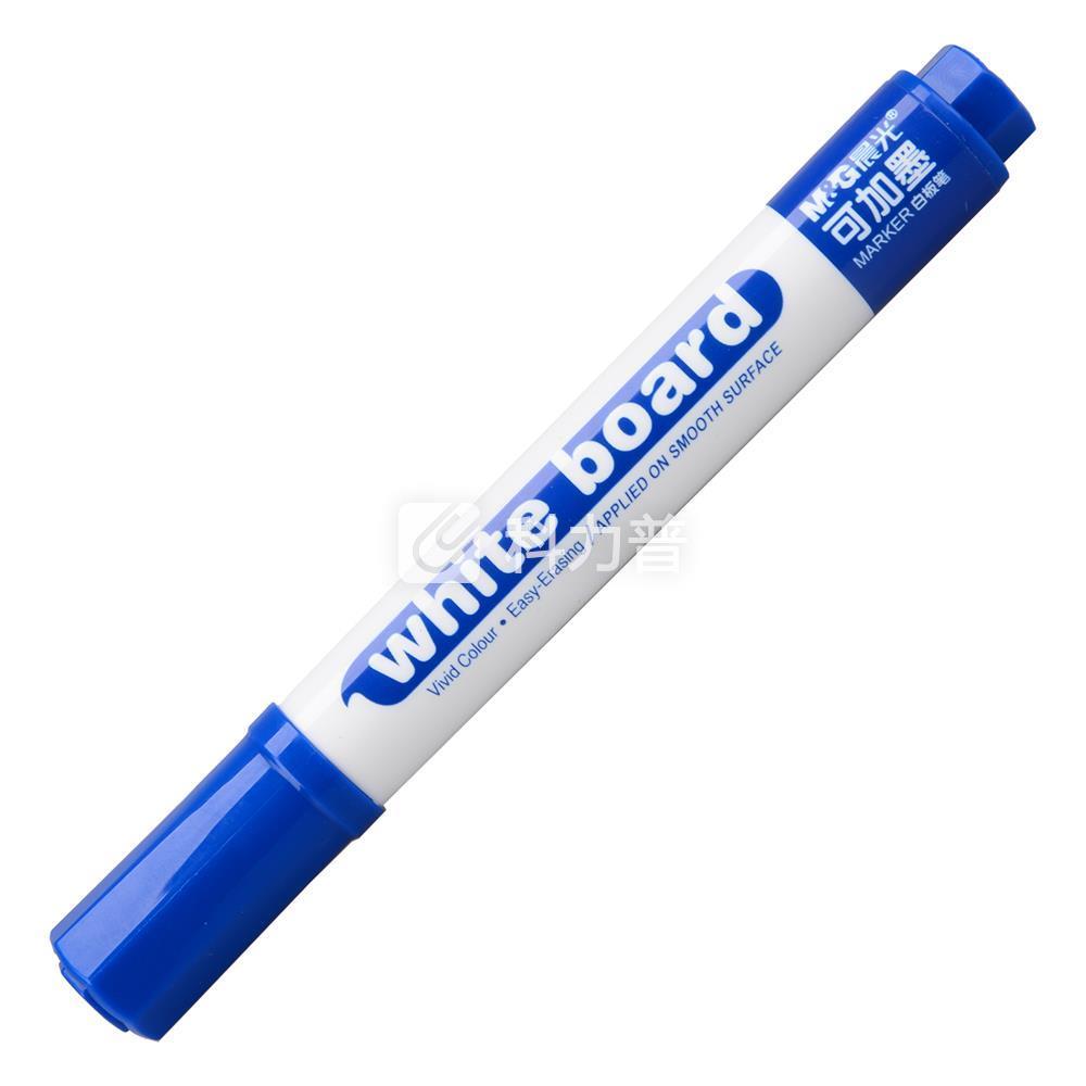 晨光 M&G 可加墨白板笔 AWM26301(蓝色)10支/盒