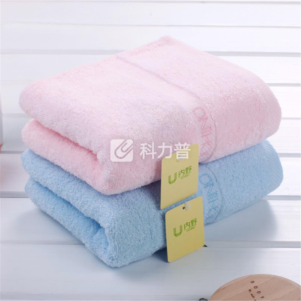 内野 素色绣字毛巾 UUH02789D