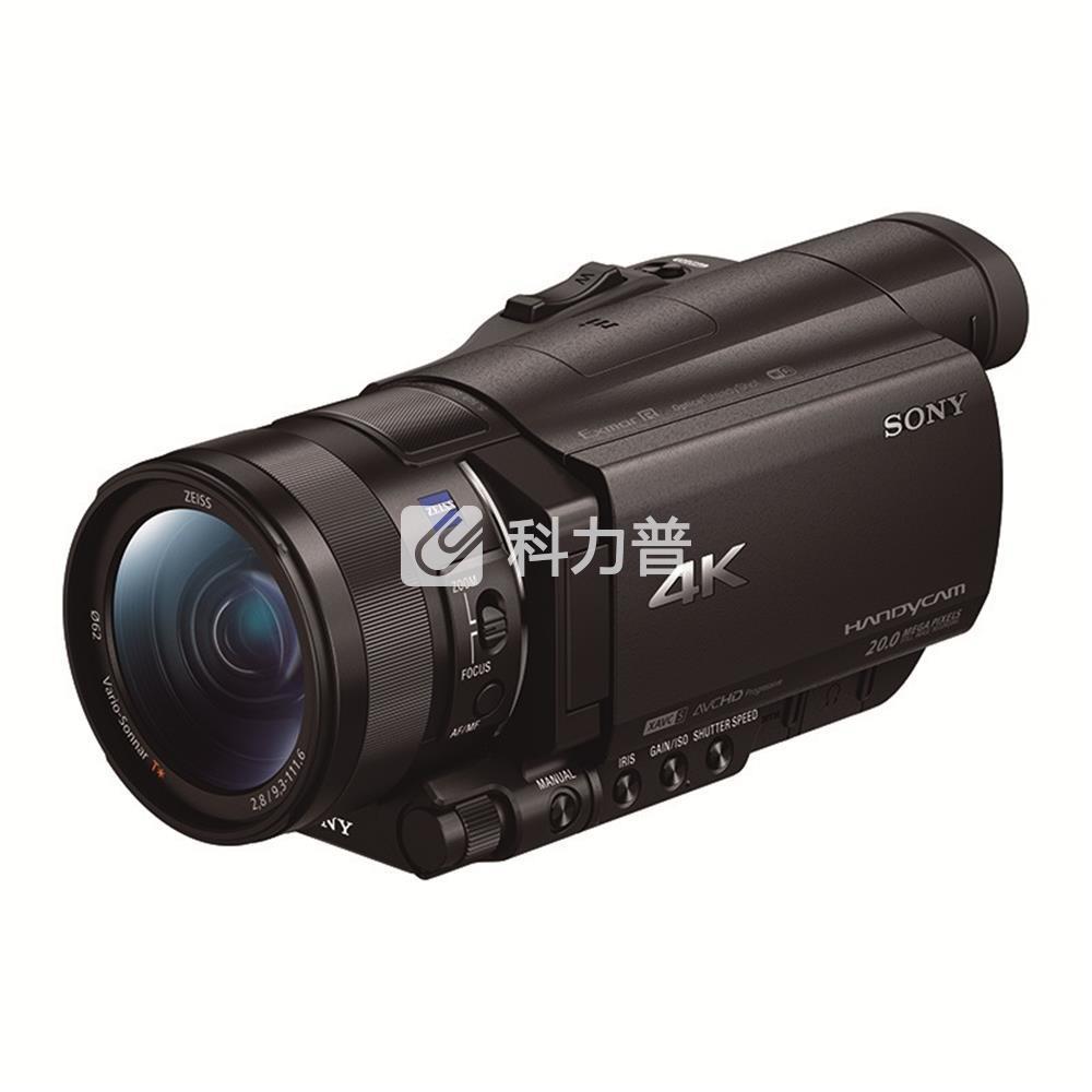 索尼 SONY 摄像机 FDR-AX100E(4K高清 1英寸CMOS 广角蔡司镜头 触摸屏 NFC/WIFI)