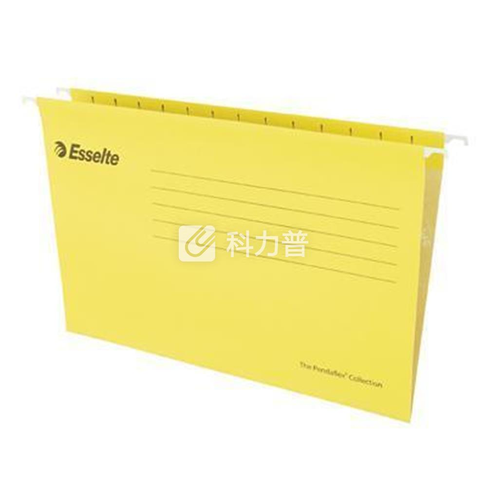 易达 Esselte 便达飞吊式挂快劳 393125 A4 353*245mm (黄色) 25片/包