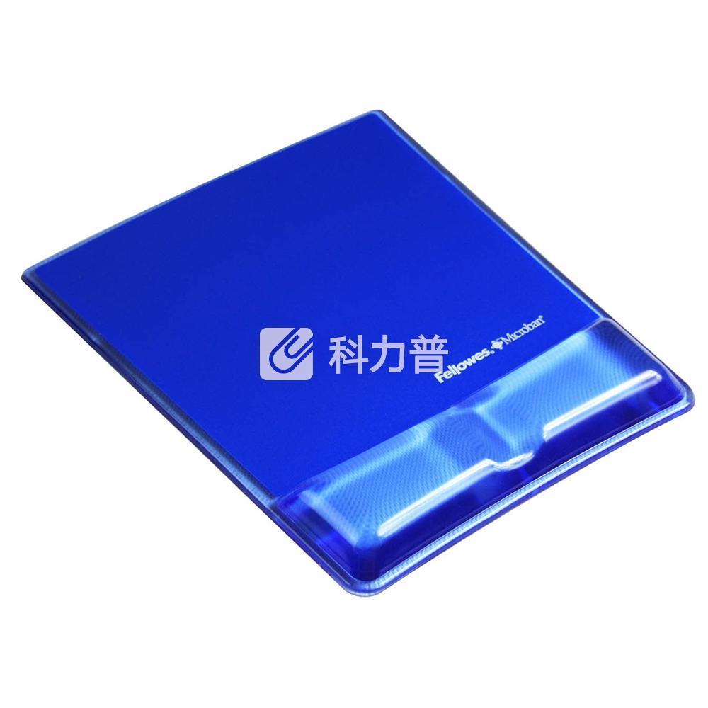 范罗士 Fellowes 水晶硅胶鼠标垫 冰晶蓝 CRC91822