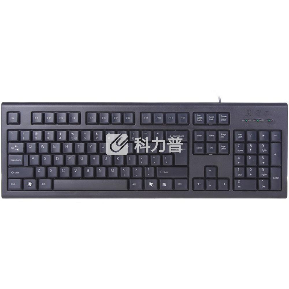 双飞燕 A4tech 有线键盘 KR-85 PS2 (黑色)