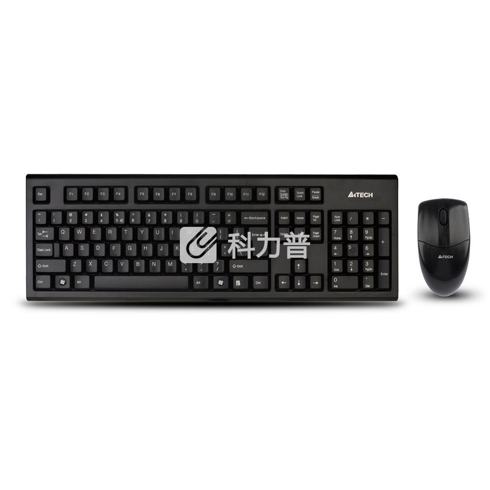 双飞燕 A4tech 无线键鼠套装 3100N (黑色)