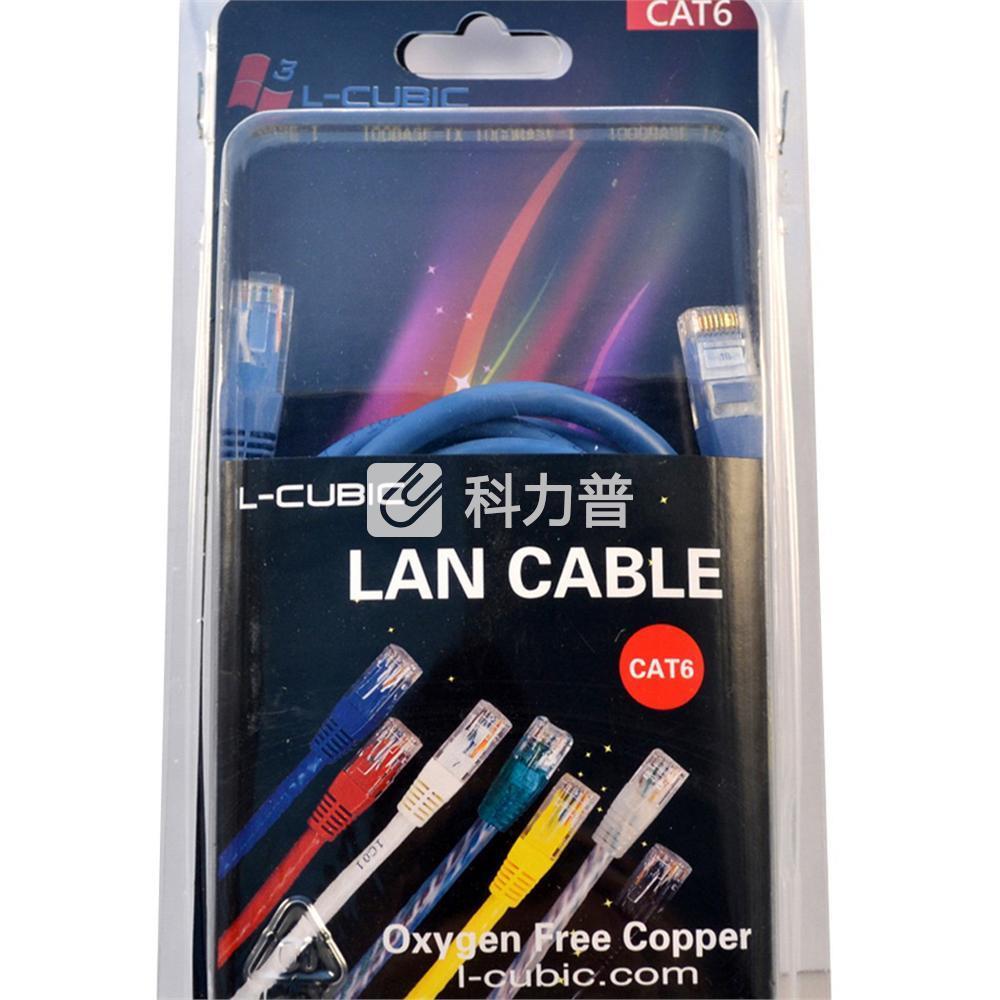 酷比客 L-CUBIC 六类千兆网线 圆线 3米(蓝色)(LCLN6RRBU-3M)