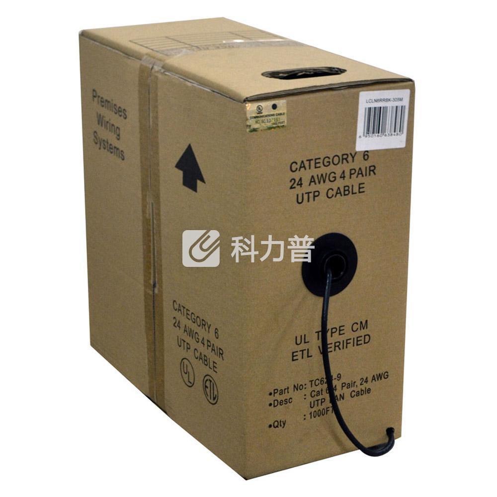 酷比客 L-CUBIC 六类纯铜成箱网线 305米(黑色)(LCLN6RRBK-305M)