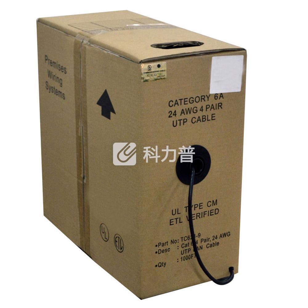 酷比客 L-CUBIC 超六类纯铜成箱网线 305米(黑色)(LCLN6ABK-305M)