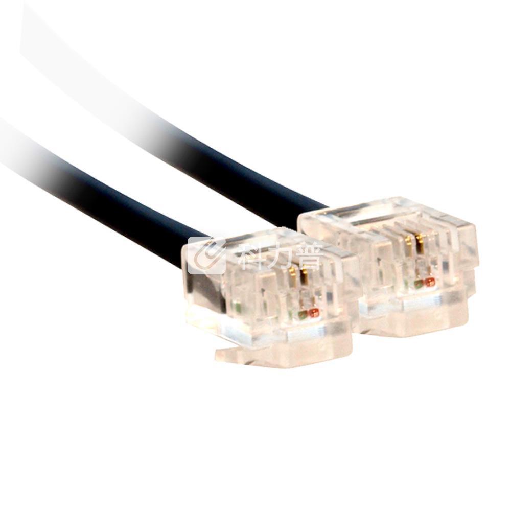 酷比客 L-CUBIC 两芯纯铜电话线 1.5米(黑色)(LCLN3TELBK-1.5M)