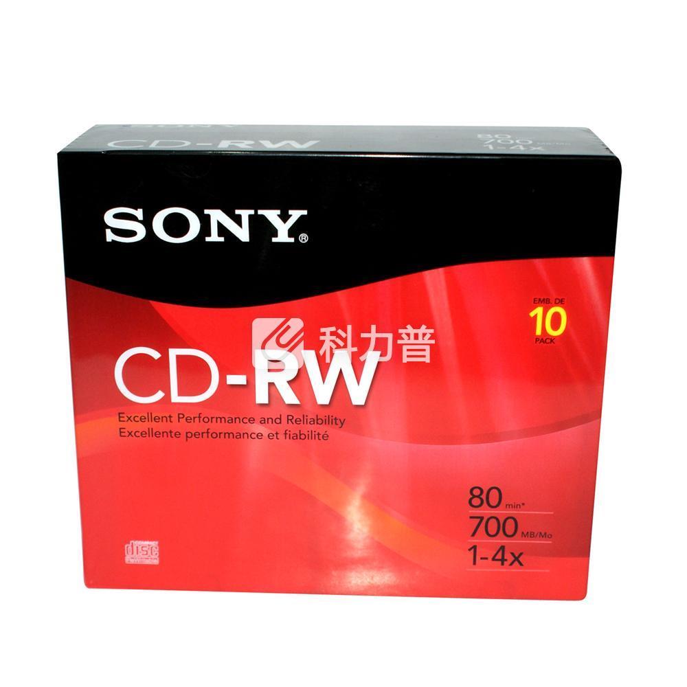 索尼 SONY 光盘 CD-RW 1X-4X 700MB (单片装)