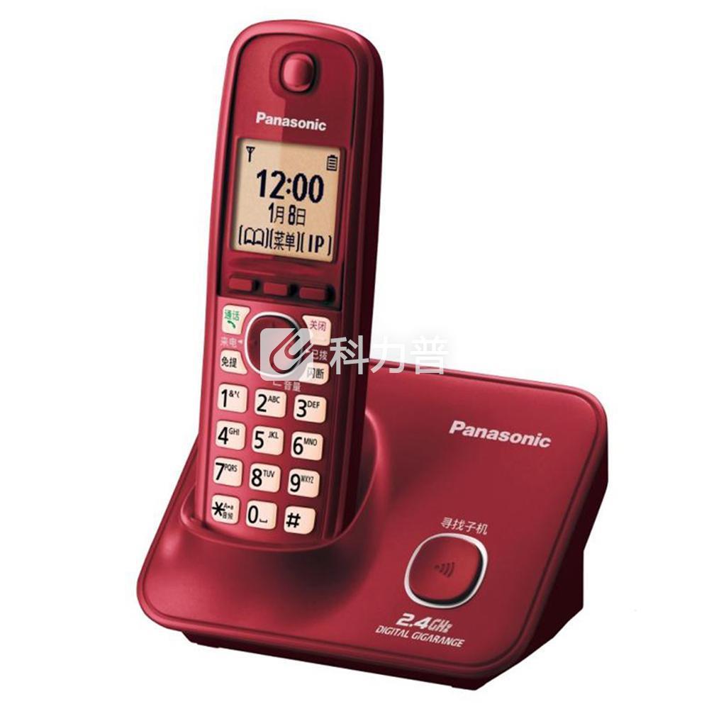 松下 Panasonic 数字无绳电话机单主机 KX-TG32CN-1(醇酒红)