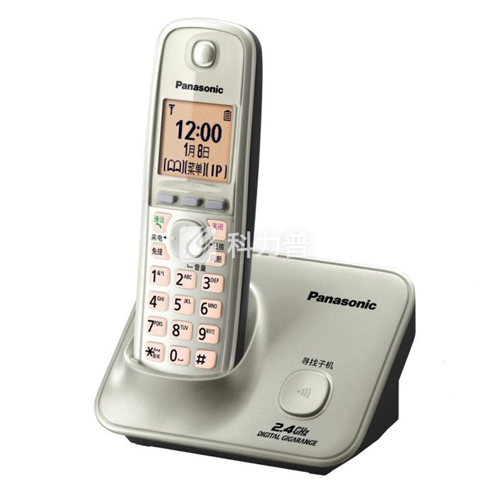 松下 Panasonic 数字无绳电话机单主机 KX-TG32CN-1 (香槟金)