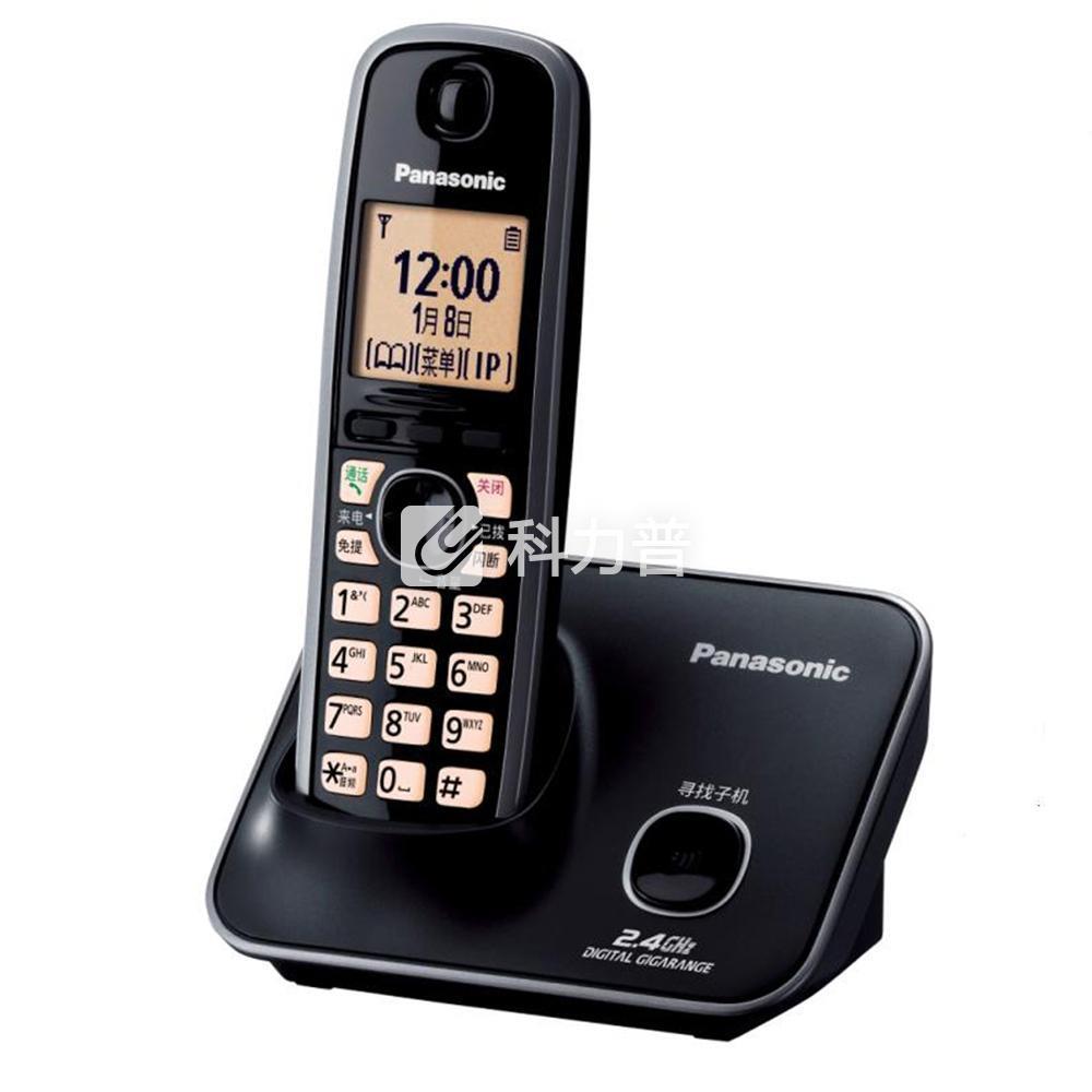 松下 Panasonic 数字无绳电话机单主机 KX-TG32CN-1(黑色)