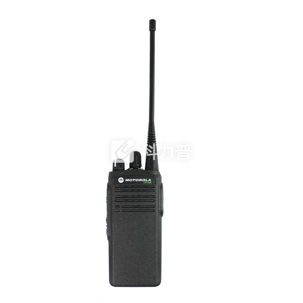 摩托罗拉 MOTOROLA 专业对讲机 CP1200 黑色 (锂电池 充电器 背夹 天线 纸盒装)