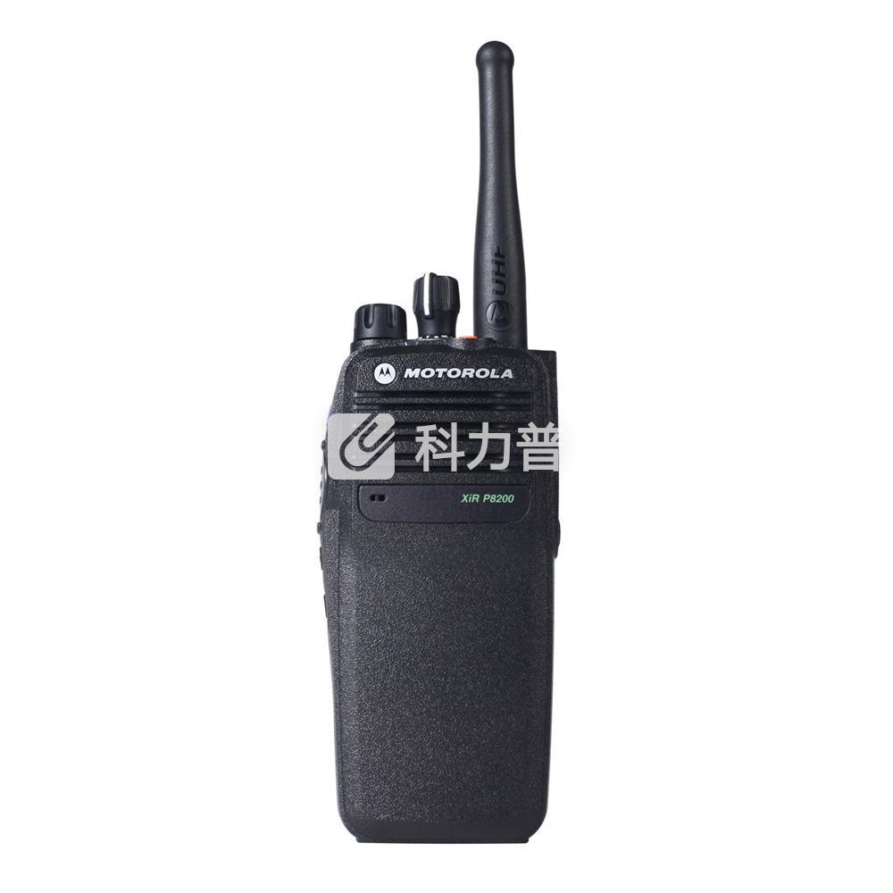 摩托罗拉 MOTOROLA 专业数字对讲机 XiR P8200 黑色 (锂电池 充电器 背夹 天线 纸盒装)