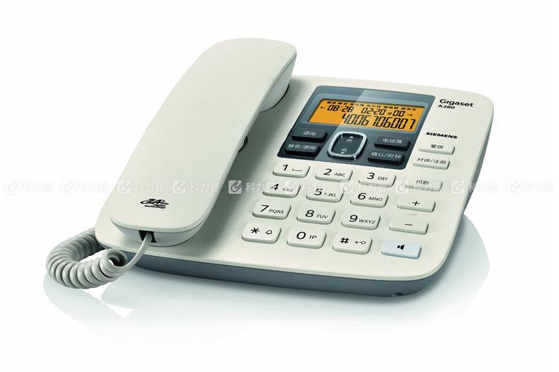 集怡嘉 Gigaset 数字无绳电话机 A280 (白色)