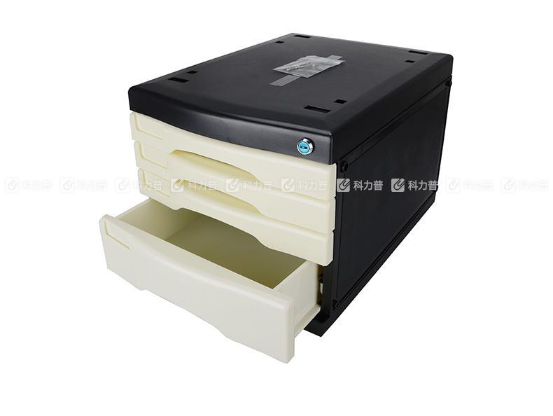 美都 Metro 四层带锁文件柜 3474A 白色/黑色(2个/箱)