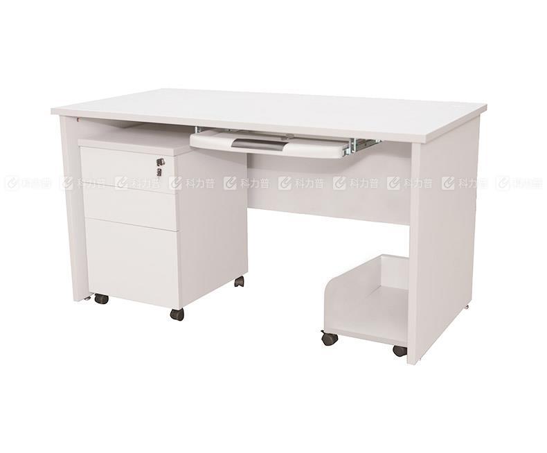 顺华 SH 办公桌 SH-1260C(带活动柜、主机架、键盘架) W1200*D600*H750 mm (灰白色)