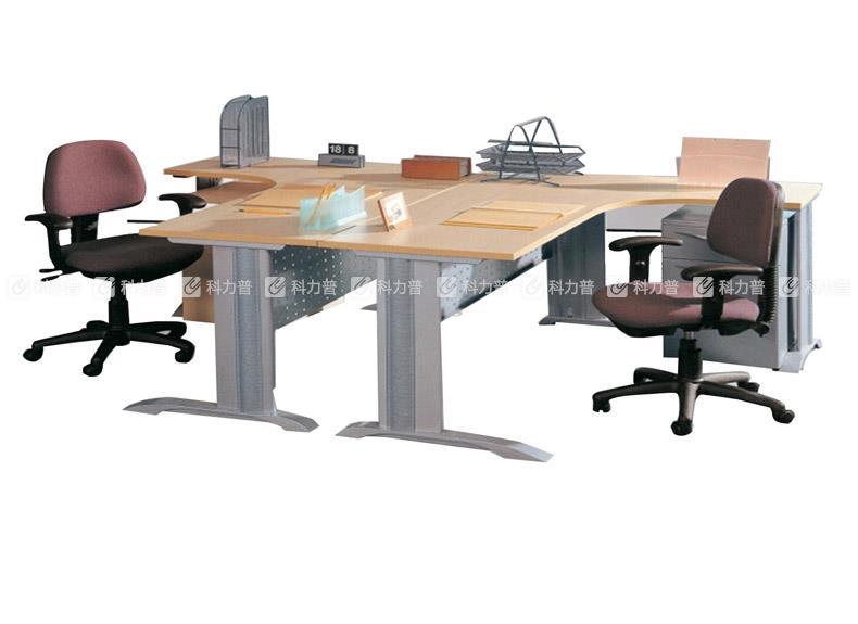 顺华 SH 钢木职员桌 SH-1560X W1500*D600/W1500*D450*H750mm(颜色可定制)