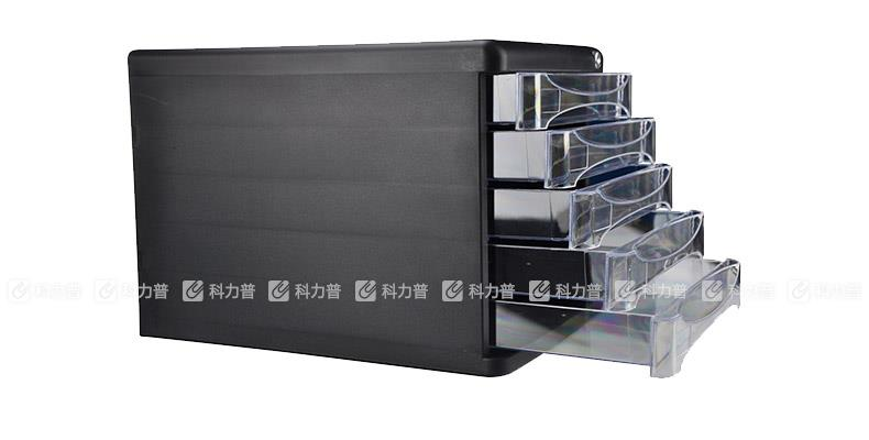 得力五层文件柜9795 混色(灰色/黑)带锁