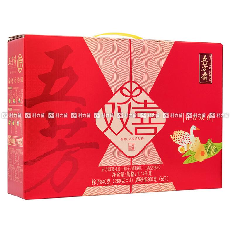 五芳齋 雙喜粽子禮盒 1140g 內含4品 6盒/箱