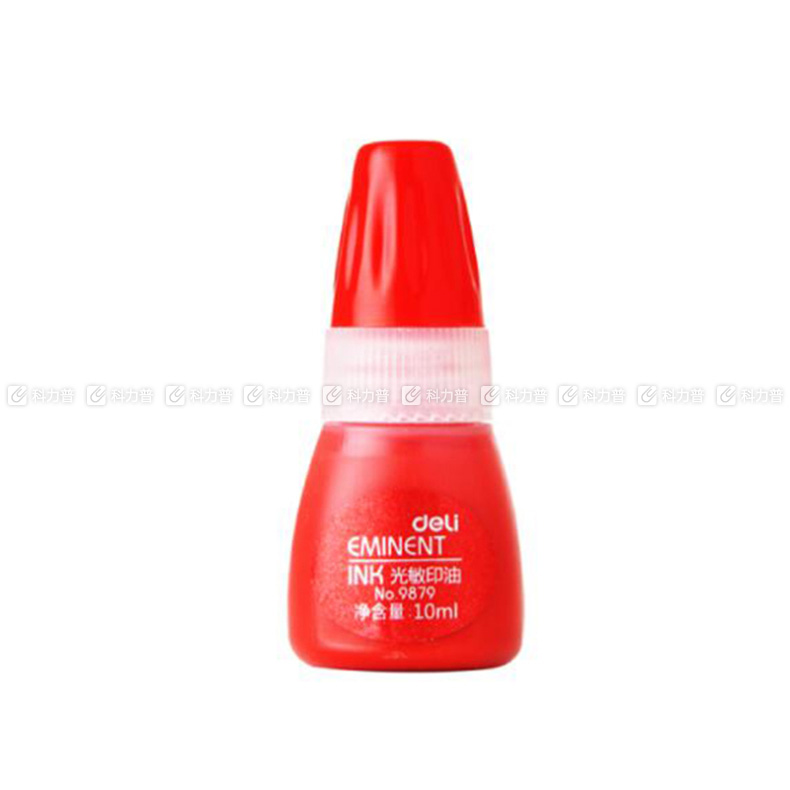 得力 deli 光敏印油 9879 10ml (紅色)
