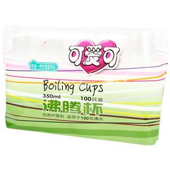 可爱可 沸腾杯 350ml 100个/袋 (宝钢专用)