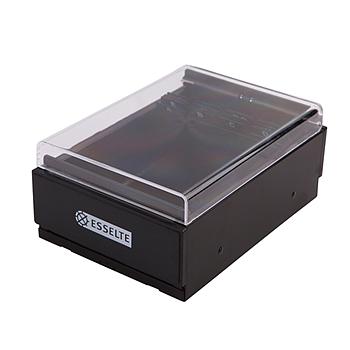 易达 Esselte 名片盒 98400 400名 (黑色) 12个/箱