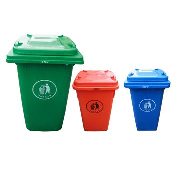 中天 可移动环卫垃圾桶 120L (颜色随机)