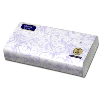唯洁雅 VIRJOY 简易袋装面巾纸 V312A 80张/包 96包/箱