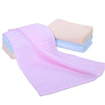 洁丽雅 grace 纯棉强吸水舒适面巾 6415 69*33cm (颜色随机) 1条/袋