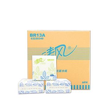 清风 Breeze 抽取式面纸双层 BR13A 130抽/包 96包/箱
