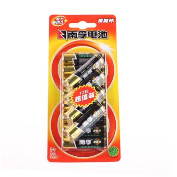 南孚 NANFU 碱性电池 LR6 5号 12节/卡