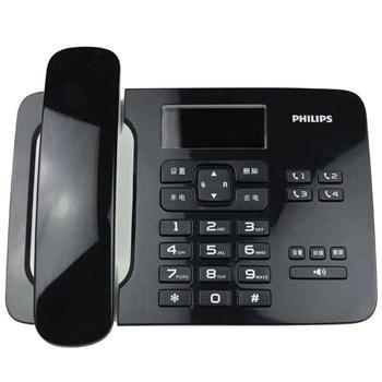 飞利浦 PHILIPS 电话机 CORD492 (黑色) 来电显示