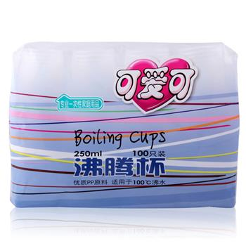 可爱可 沸腾杯 250ml 100个/包 20包/箱