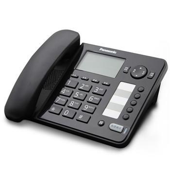 松下 Panasonic 电话机 KX-TS398CN (黑色) 带分机口