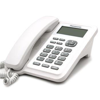 松下 Panasonic 电话机 KX-TS318CN (白色) 带分机口 免电池