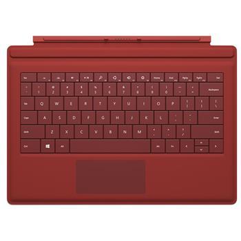 微软 Microsoft 平板电脑键盘盖 (红色) (适用于Surface Pro 3)