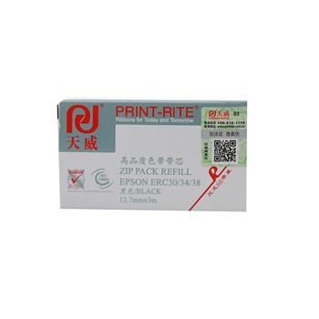 天威 PRINT-RITE 色带芯 EPSON-ERC30/34/38 RFR037BPRJ1 3m*12.7mm (黑色)