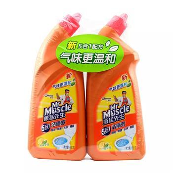威猛先生 Mr Muscle 洁厕液 600g/瓶 2瓶/组 12组/箱 (柠檬草香 双包装)