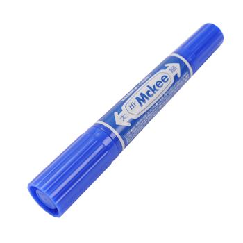 斑马 ZEBRA 大麦奇双头记号笔 MO-150 粗头6.0mm,细头1.5-2.0mm (蓝色) 10支/盒