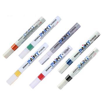 斑马 ZEBRA PAINT油漆笔 MOP-200M 2.5mm (黄色) 10支/盒
