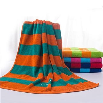 洁丽雅 grace 纯棉条纹浴巾 6756 70*140cm