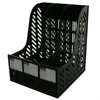 远生 Usign 三格组合文件架 US-2031 (黑色)