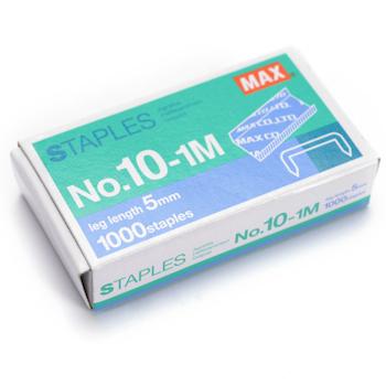 美克司 MAX 统一订书针 NO.10-1M 10# 1000枚/盒