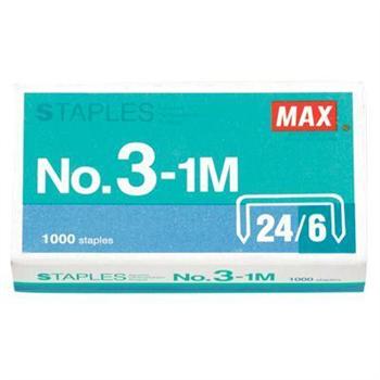 美克司 MAX 统一订书针 NO.3-1M #24/6 1000枚/盒