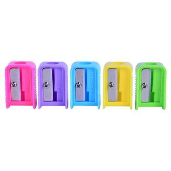 晨光 M&G 单孔塑料卷笔刀 APS91211 (红色、黄色、蓝色、绿色、紫色) 50个/盒 (颜色随机)