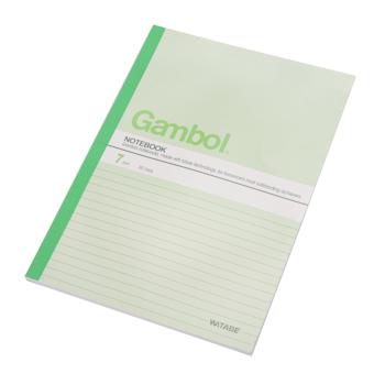 渡边 Gambol 无线装订本 G6607 B5 (混色) 60页/本 6本/封 (颜色随机)