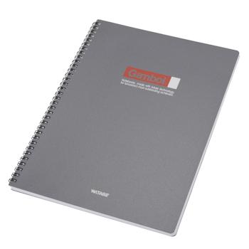 渡边 Gambol PP面双螺旋装订笔记本 DS4000 A4 (黑色、灰色) 80页/本