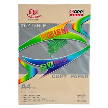 旗舰 FLAGSHIP 彩色复印纸 A4 80g (桃红色) 100张/包